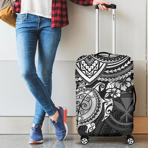 Polynesian Hawaii Luggage Covers - White Turtle