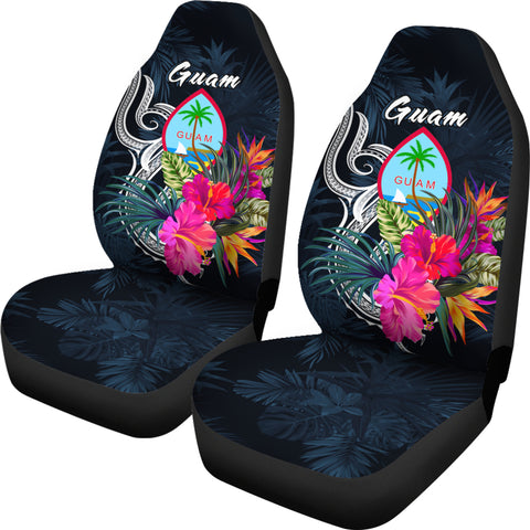 Image of Guam Polynesian Car Seat Covers - Tropical Flower - BN12