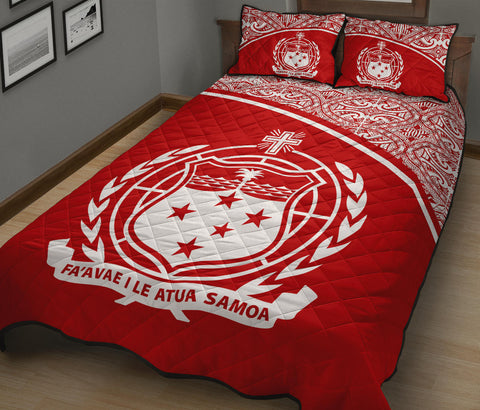 Image of Samoa Quilt Bed Set - Red Curve Version - BN12
