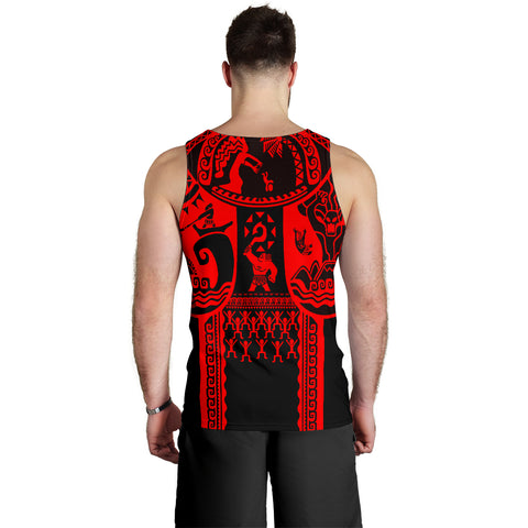 Hawaii Men's Tank Top - Hawaii Coat Of Arm & Maui Tattoo - BN17