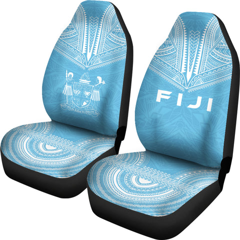 Fiji Flag Polynesian Chief Car Seat Cover