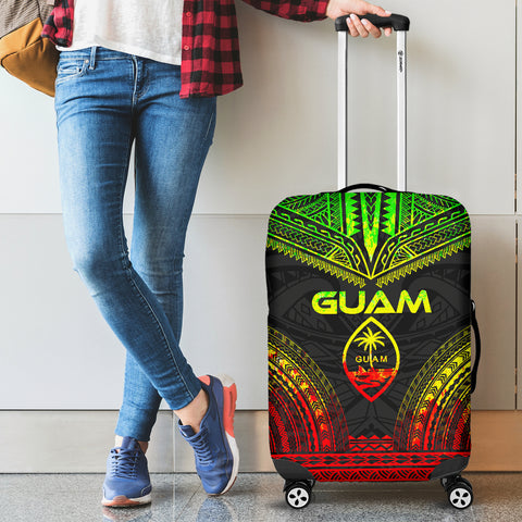Guam Polynesian Chief Luggage Cover - Reggae Version