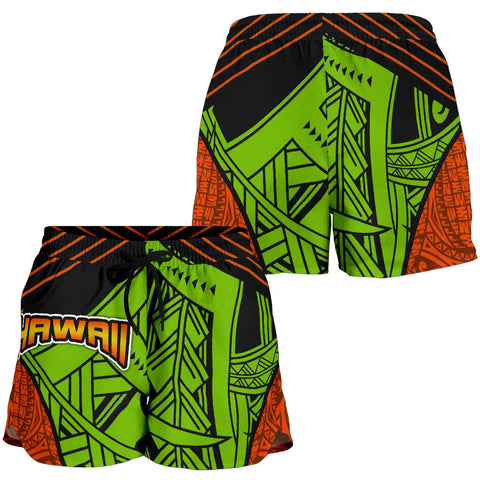 Polynesian Hawaii Women's Shorts - Tribal Wave - BN12
