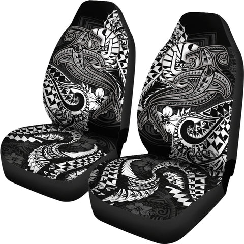 Image of Tahiti Car Seat Covers - White Shark Polynesian Tattoo - BN18