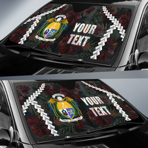 Image of Nauru Custom Personalised Auto Sun Shades - Chain Polynesian - BN11
