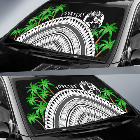 Tonga Custom Personalised Auto Sun Shades - Ginger Lei Pattern - BN20