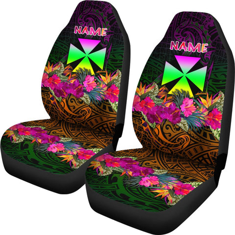 Wallis and Futuna Personalised Car Seat Covers - Summer Hibiscus