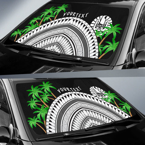 Image of Tahiti Custom Personalised Auto Sun Shades - Ginger Lei Pattern - BN20