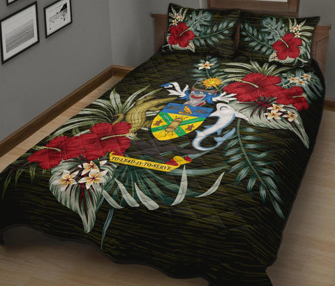 Solomon Islands Polynesian Quilt Bed Set - Special Hibiscus A7