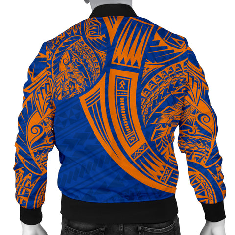 Marshall Islands Polynesian Men's Bomber Jacket - Tribal Tattoo - BN12