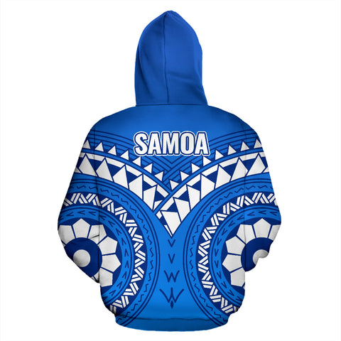Samoa Polynesian Tribal Pattern All Over Zip-Up Hoodie - BN12
