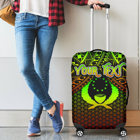 Polynesian Pohnpei Personalised Luggage Covers - Reggae Vintage Polynesian Patterns