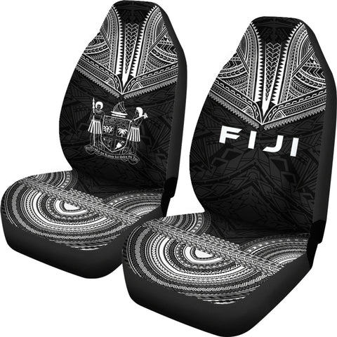Fiji Polynesian Chief Car Seat Cover - Black Version