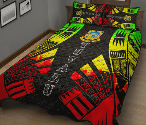 Tuvalu Quilt Bed Set - Reggae Tattoo Style