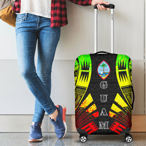 Guam Luggage Cover - Polynesian Tattoo Reggae - BN09