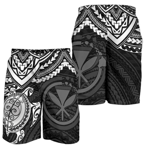 Polynesian Hawaii Short (Men) - White Turtle