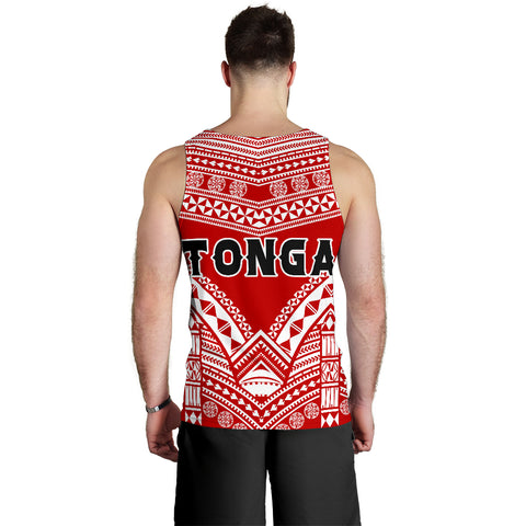 Image of Tonga Polynesian Tribal Pattern Men's Tank Top - BN12