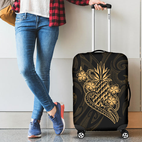 Image of Polynesian Luggage Covers - Gold Pineapple - BN12