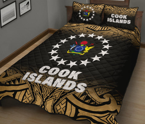 Cook Islands Quilt Bed Set - Fog Style - Polynesian Yellow -  BN12