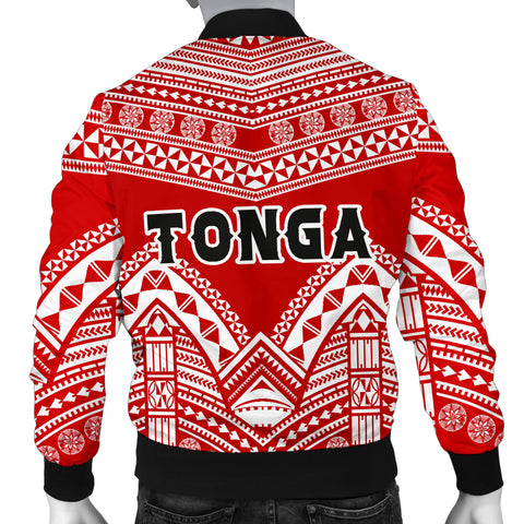 Image of Tonga Polynesian Tribal Pattern Men's Bomber Jacket - BN12