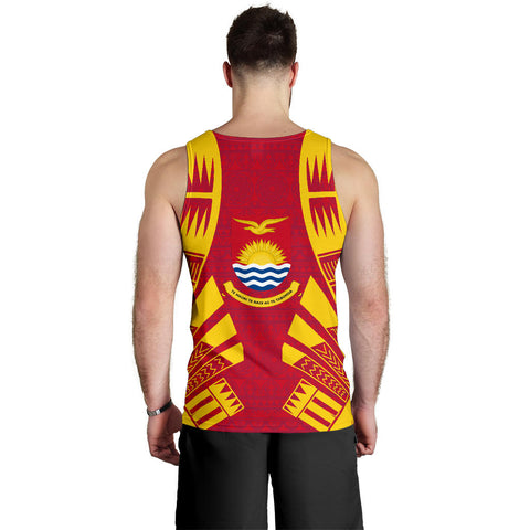 Kiribati Men Tank Top - Polynesian Tattoo Flag Back