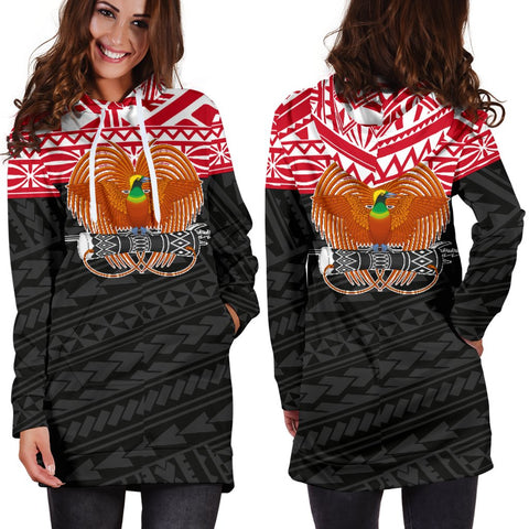 Image of Papua New Guinea Hoodie Dress - Polynesian Style - BN01
