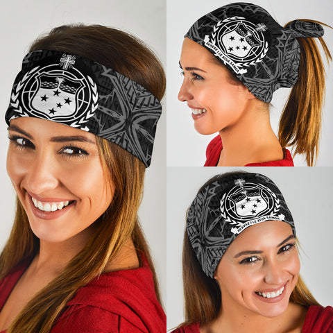 Samoa Polynesian Bandana 3-Pack - Coat Of Arm Black - BN39