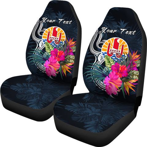 Image of Tahiti Polynesian Custom Personalised Car Seat Covers - Tropical Flower - BN12
