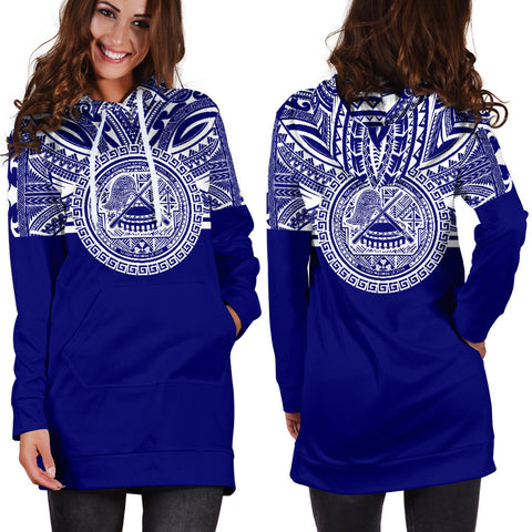 American Samoa Women Hoodie Dress - American Samoa Coat Of Arms Polynesian Flag Color Bn10