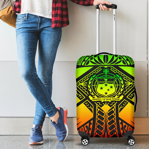 Image of Samoa Polynesian Luggage Covers - Samoa Reggae Seal with Polynesian Tattoo