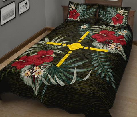 Rotuma Polynesia Polynesian Quilt Bed Set - Special Hibiscus A7