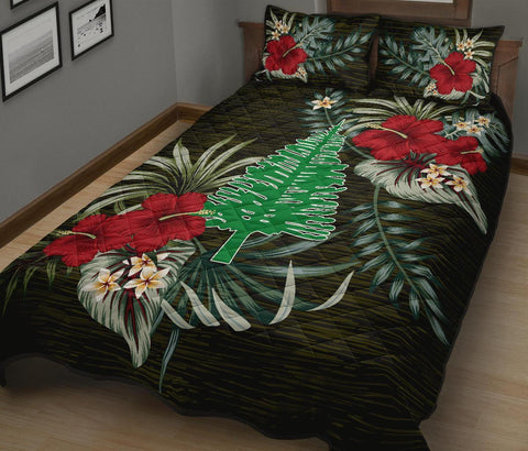Norfolk Island Polynesian Quilt Bed Set - Special Hibiscus A7