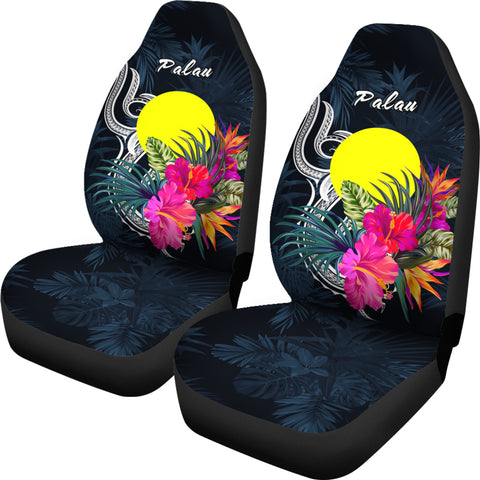 Image of Palau Polynesian Car Seat Covers - Tropical Flower - BN12