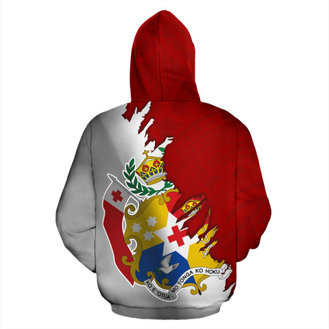 Tonga All Over Zip-Up Hoodie - Wrap Style - BN09