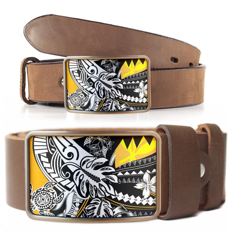 Hawaii Belt Buckle - Tribal Jungle Pattern - BN20