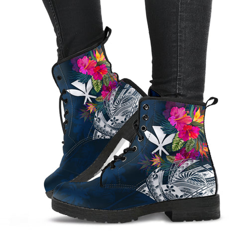 Polynesian Hawaii Leather Boots - Summer Vibes