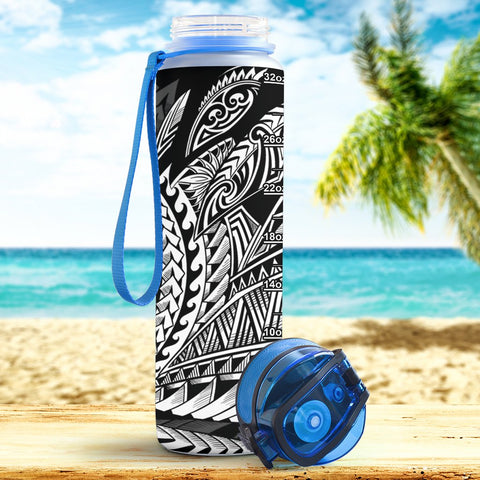 Guam Hydro Tracking Bottle - Seal Spiral Polynesian Patterns