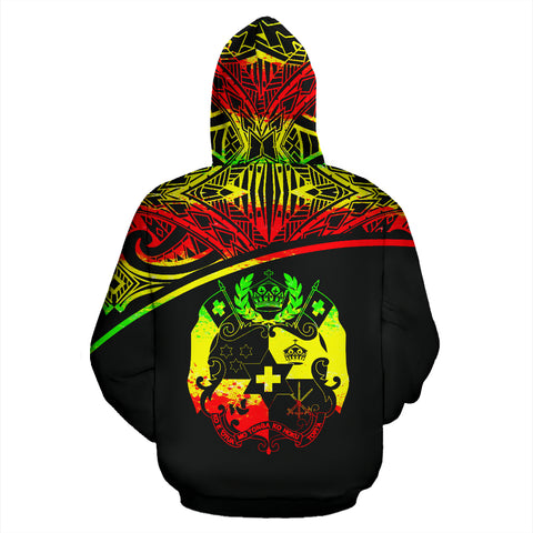 Tonga All Over Custom Personalised Hoodie - Reggae Curve - BN09