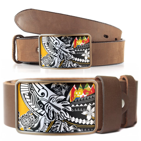 Image of Tonga Belt Buckle - Tribal Jungle Pattern - BN20