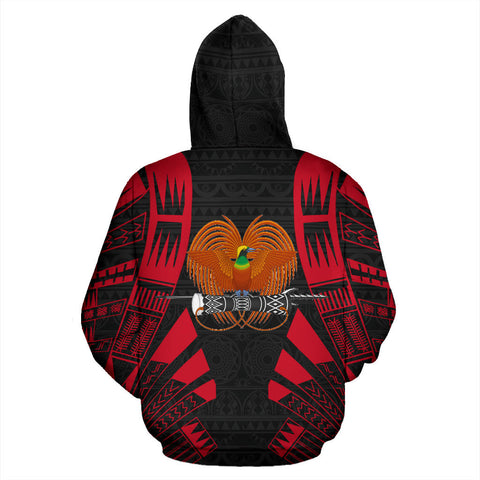 Image of Papua New Guinea All Over Hoodie - Custom Tattoo Style Papua New Guinea All Over Hoodie - Custom Tattoo Style back