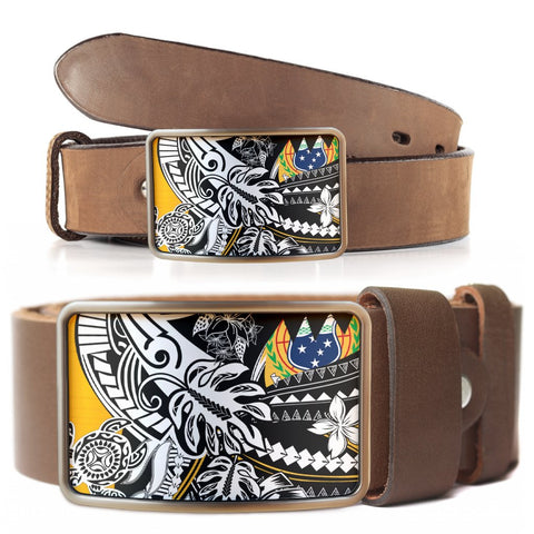 Samoa Belt Buckle - Tribal Jungle Pattern - BN20