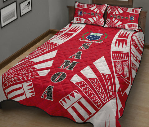 Samoa Quilt Bed Set - Red Tattoo Style - BN0112