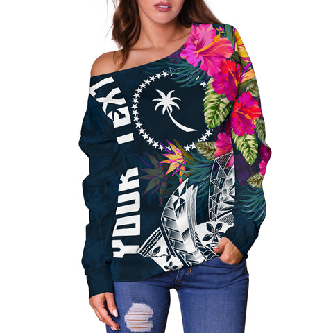 Chuuk Custom Personalised Women's Off Shoulder Sweater - Summer Vibes