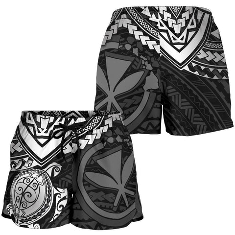 Polynesian Hawaii Short (Women) - White Turtle