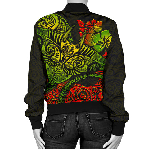 Hawaii Men's Bomber Jacket - Polynesian Manta Ray