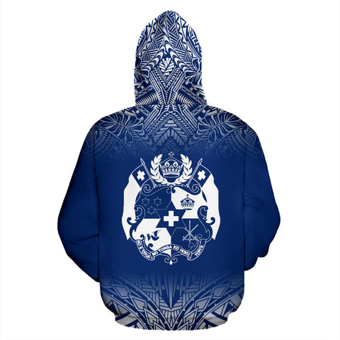 Tonga All Over Custom Personalised Hoodie - Polynesian Royal Blue - BN12