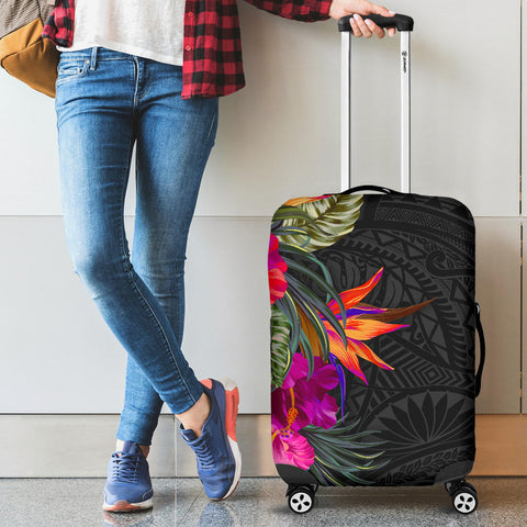 Polynesian Luggage Covers - Hibiscus Pattern - BN39