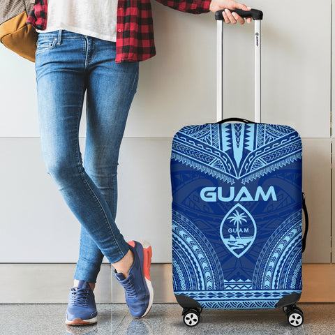Guam Flag Polynesian Chief Luggage Cover
