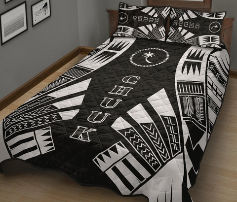 Chuuk Quilt Bed Set - Black Tattoo Style - BN0112