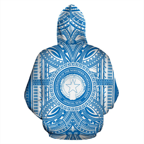 Northern Mariana Islands All Over Hoodie - Northern Mariana Islands Coat Of Arms Polynesian Flag Color Bn10